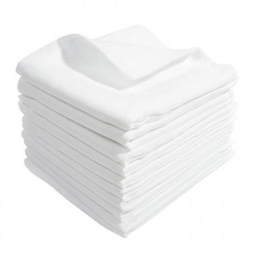 Tetrové pleny bílé